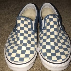 Blue checkered vans!